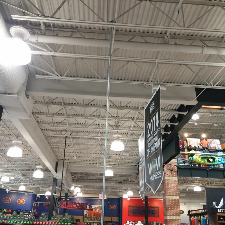 Go Pro Display at Dicks Sporting Goods in Gilbert, AZ by Power Bound Electric LLC